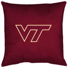 NCAA Virginia Tech Hokies Locker Room Throw Pillow