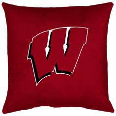 NCAA Wisconsin Badgers Locker Room Throw Pillow