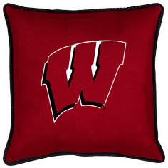 NCAA Wisconsin Badgers Sidelines Throw Pillow