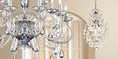 Save up to 65% on traditional and contemporary chandeliers in our home lighting sale.