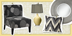 Save up to 65% on home furniture, lighting and decor in all shades of gray.
