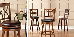 Save up to 80% on traditional and contemporary barstools in our home furnishings sale.