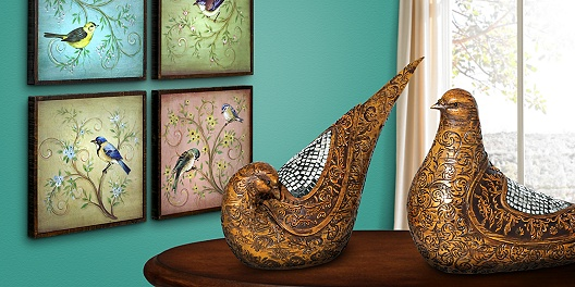 Save up to 71% off home decor, furniture, and lighting with birds and insects from 55 Downing Street.