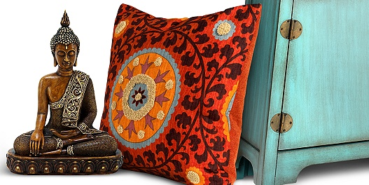 Save up to 73% on global fusion exotic home decor.