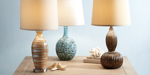 Save 70% on table lamps from 55 Downing Street.