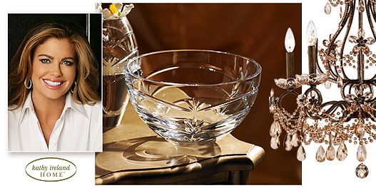 Up to 66% off of chandeliers, table lamps, and crystal home decor by Kathy Ireland.