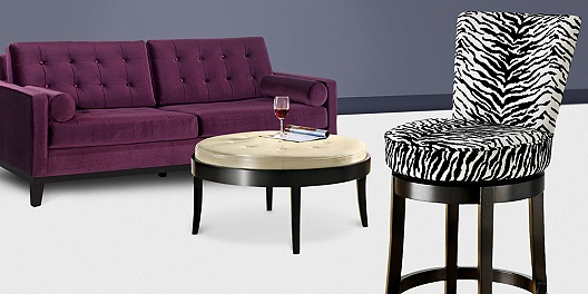 Save up to 57% off contemporary furnishings with mid-century modern style.