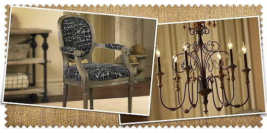 Save up to 69% off French flea market style furniture, lighting, and decor from 55 Downing Street.