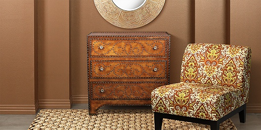 Moroccan Inspired Chair and Chest