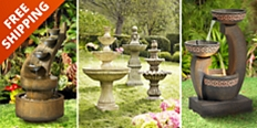 Save up to 55% with free shipping on fountains and garden accents in our home decor sale.