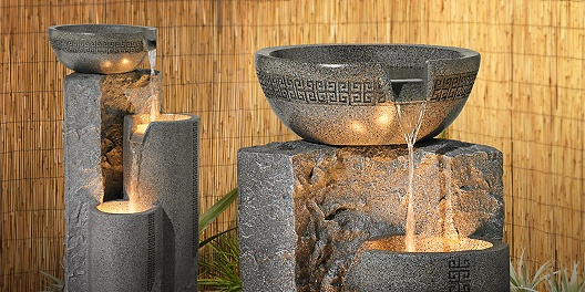 Many styles of outdoor fountains