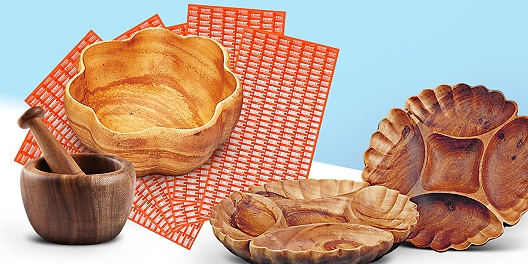 Save up to 55% off Acacia wood serveware and tabletop decor from 55 Downing Street.