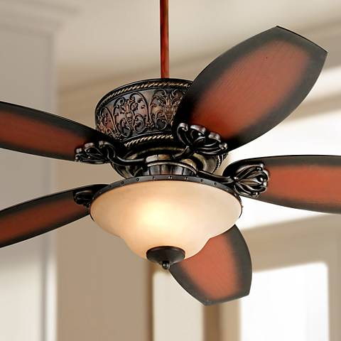 Casa Troubadour™ Dark Walnut Ceiling Fan with Light