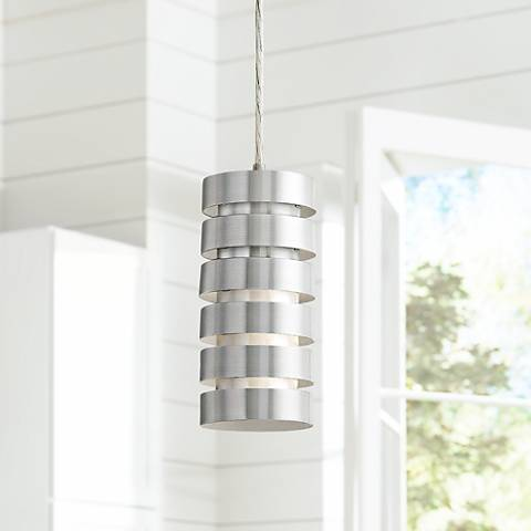 "Lite Source Tendril 4 1/2"" Wide Aluminum Mini Pendant"