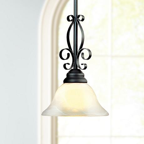 "Manchester Collection 7"" Wide Mini Pendant Chandelier"