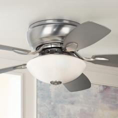 "44"" Casa Habitat™ Brushed Steel Hugger Ceiling Fan"