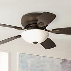 "44"" Casa Habitat™ Oil-Rubbed Bronze Hugger Ceiling Fan"