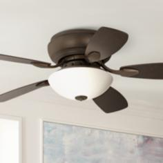 "44"" Casa Habitat® Oil-Rubbed Bronze Hugger Ceiling Fan"