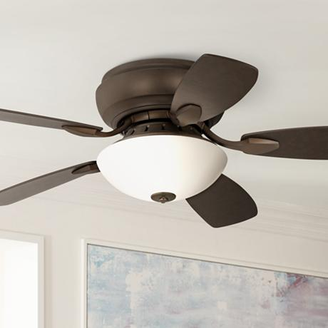 44 Quot Casa Habitat Oil Rubbed Bronze Hugger Ceiling Fan