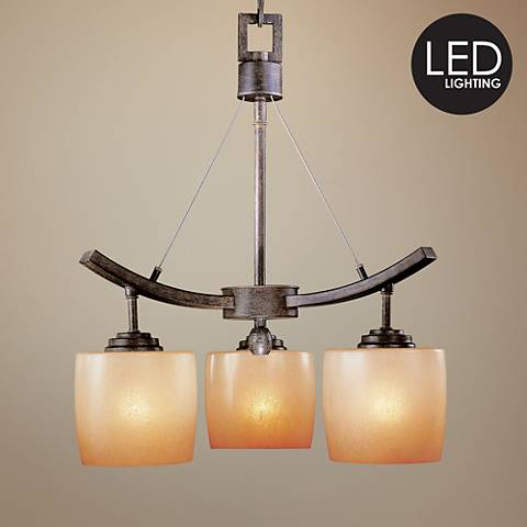 "Raiden Collection Three Light 20"" Wide LED Chandelier"