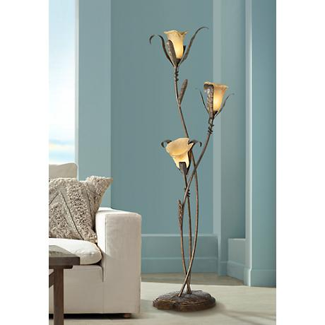 Franklin Iron Works™ Intertwined Lilies Floor Lamp