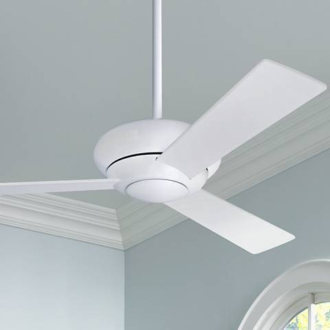 "42"" Modern Fan Altus Gloss White Modern Ceiling Fan"