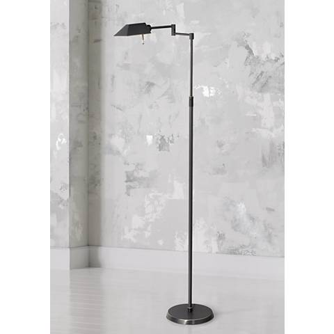 Nate Bronze Industrial Downbridge Floor Lamp 5y401
