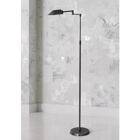 Holtkoetter Olde Bronze Halogen Swing Arm Floor Lamp