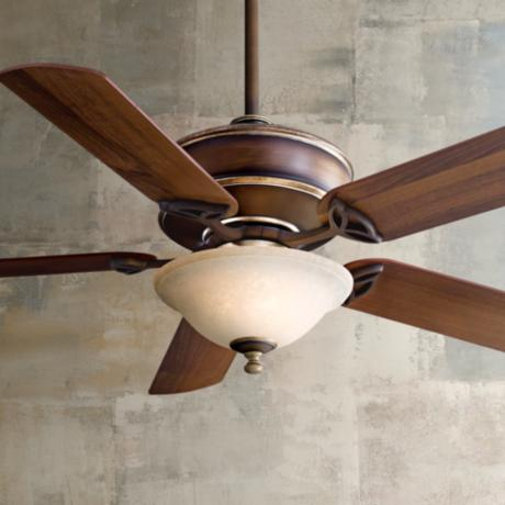 "52"" Minka Bolo Belcaro Walnut Excavation Light Ceiling Fan"