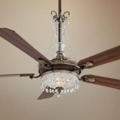 "68"" Cristafano Belcaro Walnut Ceiling Fan"