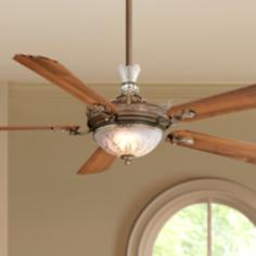 "68"" Cristafano Belcaro Walnut Finish Ceiling Fan"