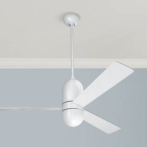 "52"" Modern Fan Cirrus Gloss White Ceiling Fan"