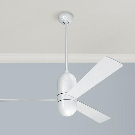52 modern fan cirrus gloss white ceiling fan 04966 Modern white ceiling fan
