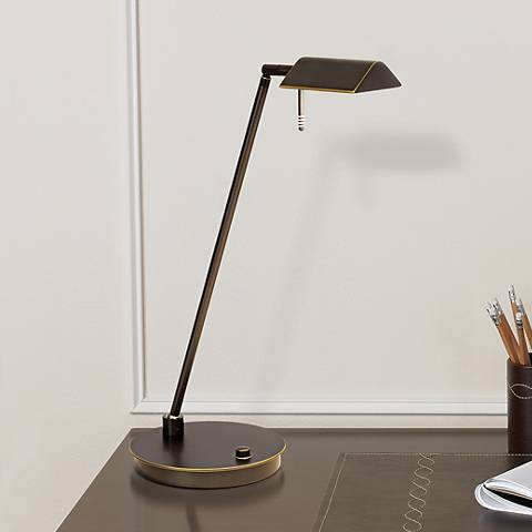 Holtkoetter Bernie Series Energy Saver Desk Lamp Bronze