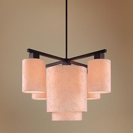 George Kovacs Kimono Collection Five Light Chandelier
