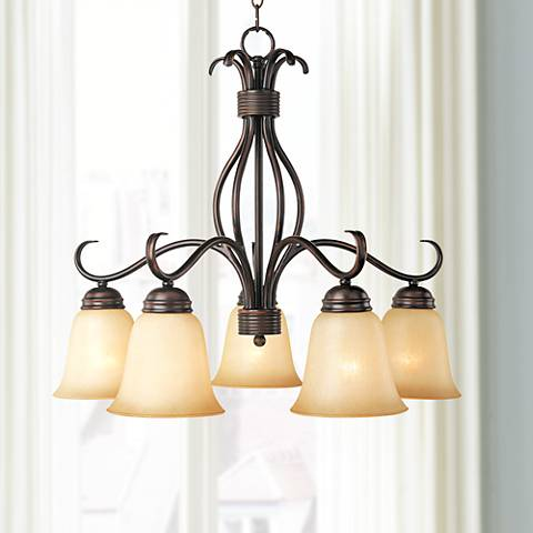 "Maxim Basix 25"" Wide 5-Light Oil-Rubbed Bronze Chandelier"