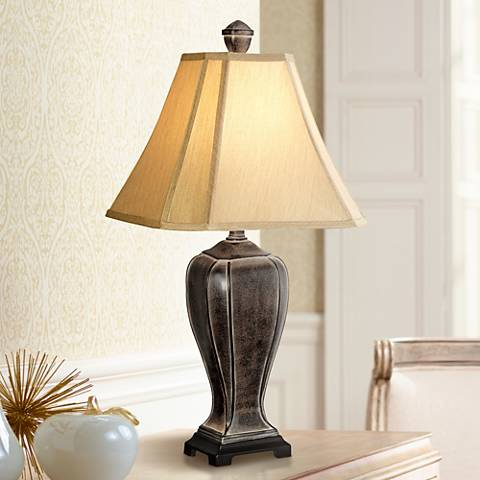 Desert Crackle Transitional Table Lamp