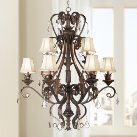Kathy Ireland Ramas de Luces Nine Light Chandelier