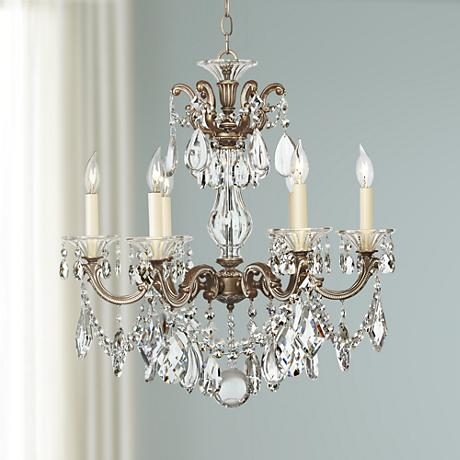 Schonbek La Scala Six Light Crystal Chandelier