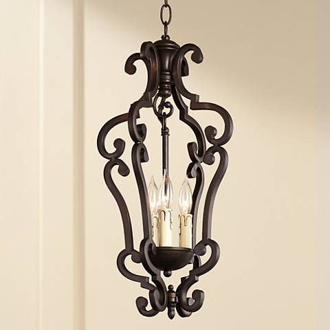 Richmond Colonial Umber Finish 3-Light Pendant Chandelier