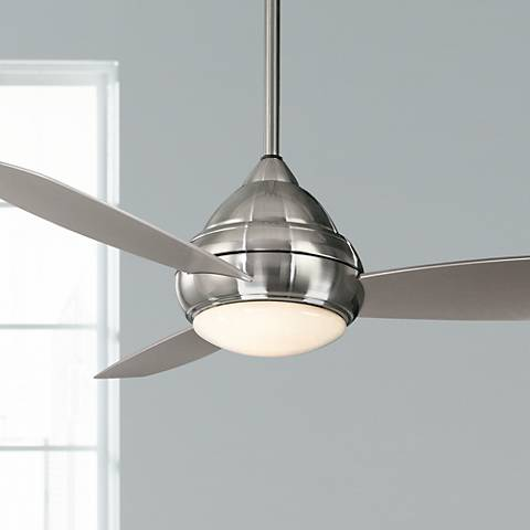 "52"" Minka Concept I Wet Location Brushed Nickel Ceiling Fan"