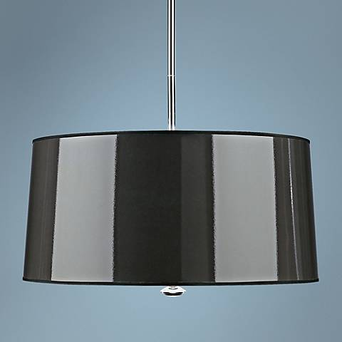 "Penelope 25 1/2"" Wide Black Pendant Light by Robert Abbey"