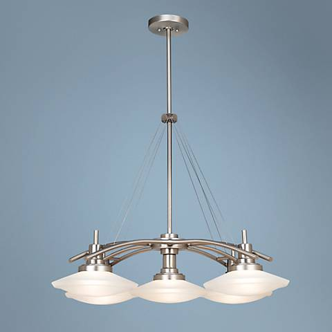 "Structures Nickel 30"" Wide Five-Light Chandelier"