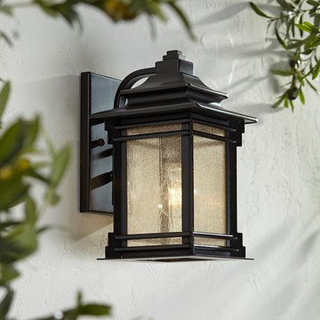 "Franklin Iron Works Hickory Point 12"" High Outdoor Light"