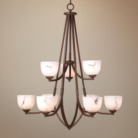 "Calavera Collection 33"" Wide Nine Light Chandelier"