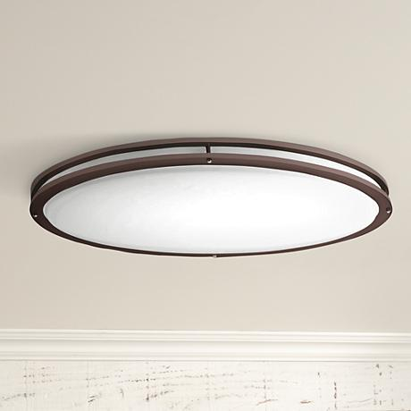 "Bronze Oval 32 1/2"" Wide 4707 Lumen LED Ceiling Light"