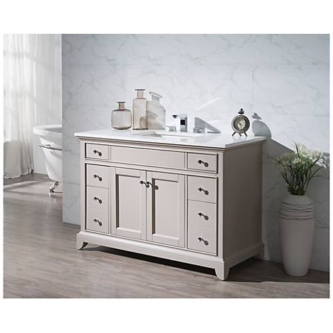 "Arianny 49"" Taupe Single Sink Bathroom Vanity"