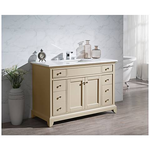 "Erin 49"" Taupe Single Sink Bathroom Vanity"