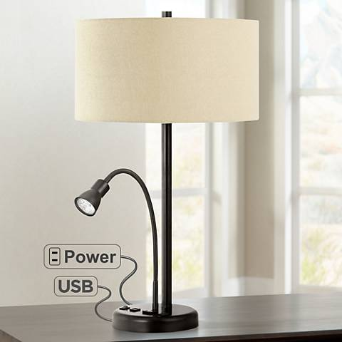 Sivana Dark Bronze LED Reading Light Utility Desk Lamp