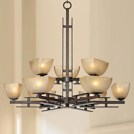 "Lineage Collection 32 3/4"" Wide Two-Tier Chandelier"